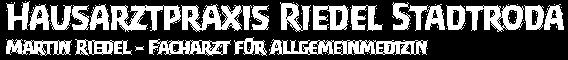 Hausarztpraxis Riedel Stadtroda Logo